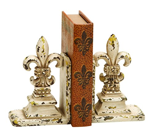 Deco 79 Library Polystone Bookend Pair, 11/9-Inch