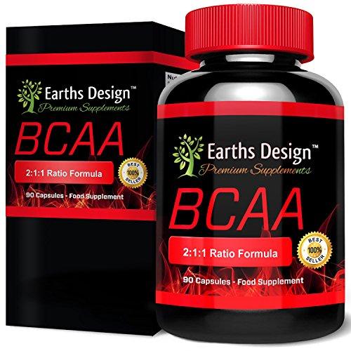 BCAA, Amminoacidi ramificati per perdere peso, integratore per il bodybuilding e l'allenamento di forza e resistenza, contiene glutammina per il pre-allenamento e il recupero muscolare. 90 capsule.