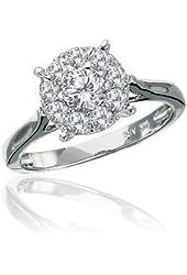 1 Carats diamond ring white gold 14k