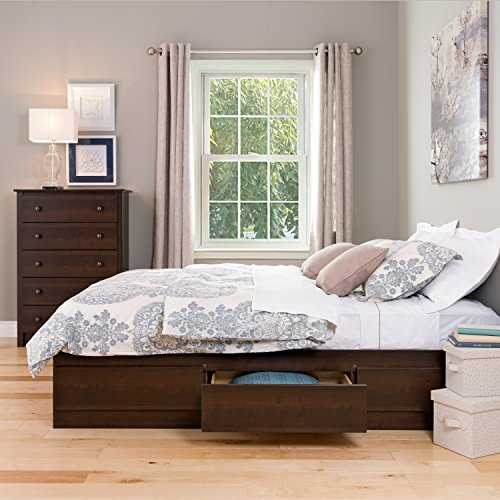 Espresso Queen Mate's Platform Storage Bed with 6 Drawers (Storage Bed Frame Queen compare prices)