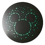 LEDシーリングライト ミッキーシルエット(ディズニー × ルミナス) ~6畳 調光(3段階) 可愛いリモコン付き WY-C06MM