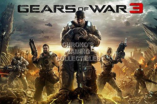 "CGC enorme poster-Gears Of War 3Xbox 360-gas016, Carta, 24"" x 36"" (61cm x 91.5cm)"