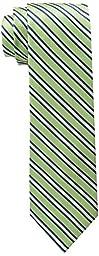 U.S. Polo Assn.. Men\'s Textured Stripe Tie, Light Green, One Size