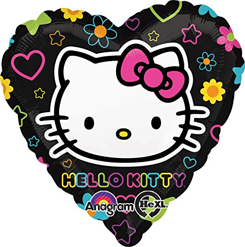 Anagram International Hello Kitty Tween Heart Foil Balloon Pack, Multicolor