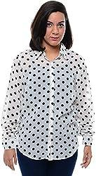 CHLOE Women's Regular Fit Shirt (CH-AM-11357P11-M, White, M)