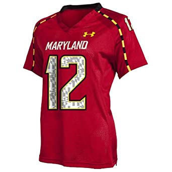 Buy NCAA Ladies Maryland Terrapins #12 College Football Replica Jerseys by Under Armour