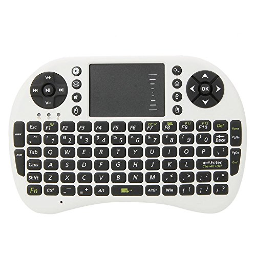 Vamery UKB-500-RF Mini Keyboard White Body Black Button for Windows 2000 / XP / Vista / CE / 7/ Linux