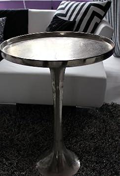 Mesa de centro redonda de aluminio