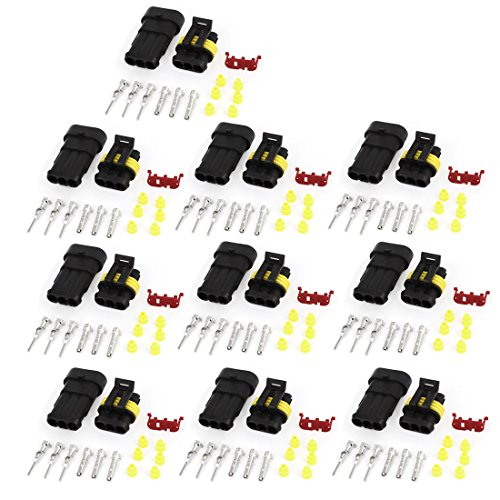 10-Set-3-Pin-Waterproof-Connector-3-Way-Car-Scooter-ATV-UTV-RV