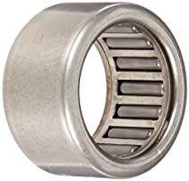 Koyo HK1512 Needle Roller Bearingd Drawn Cup, Open, Steel Cage, Metric, 15mm ID, 21mm OD, 12mm Width, 21000rpm Maximum Rotational Speed, 2049lbf Static Load Capacity, 1683lbf Dynamic Load Capacity