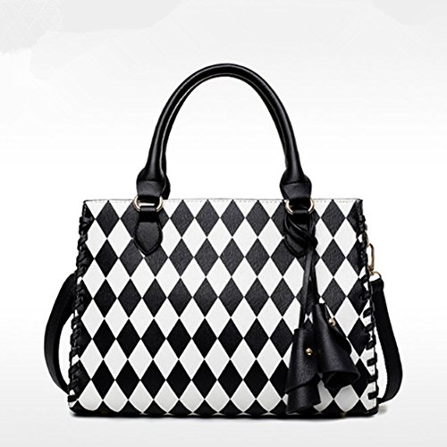 BagVenus Autumn Winter New Style Shoulder Black White Lady Handbags