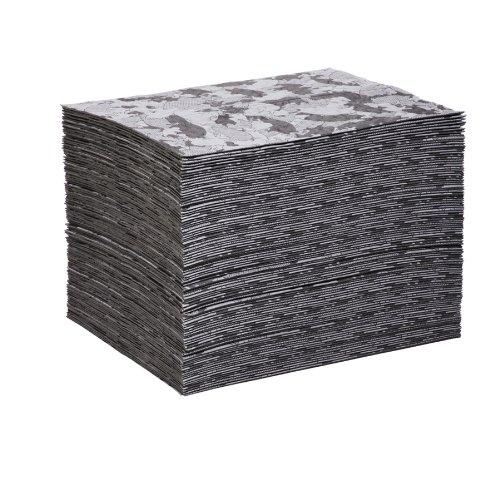 "New Pig Mat117 Polypropylene Gray Ham-O Hamouflage Pattern Absorbent Mat Pad, 33.4 Oz Absorbency, 20' Length X 16"" Width, Gray/Black (Bag Of 100) front-968011"
