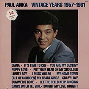 Paul Anka Vintage Years 1957 1961 Lp Vinyl Amazon