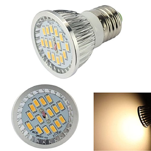 Bessky(Tm) Dimmable E27 6W 15 Leds 5730 Smd Led Spot Bulb Lamp Light Warm White
