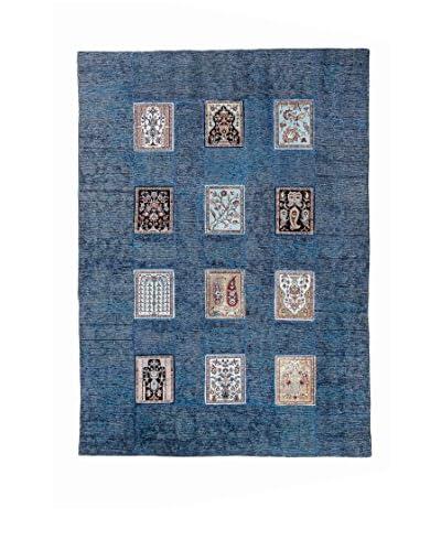 Rugsense Alfombra Vintage Patch Azul/Multicolor
