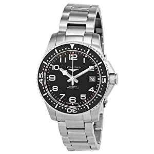 Longines Hydro Conquest Black Dial Stainless Steel Mens Watch L36944536