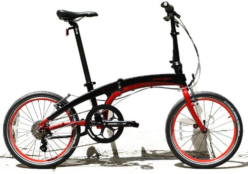 Dahon Vector P8 Red Black Folding Bike Bicycle Everyday Open Box