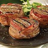 Omaha Steaks 4 (5 oz.) Bacon-Wrapped Filet Mignons