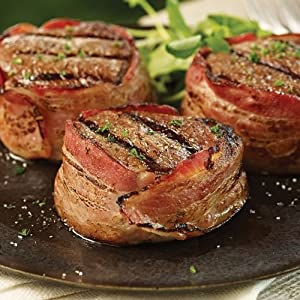 Omaha Steaks 4 (5 oz.) Bacon-Wrapped Filet Mignons