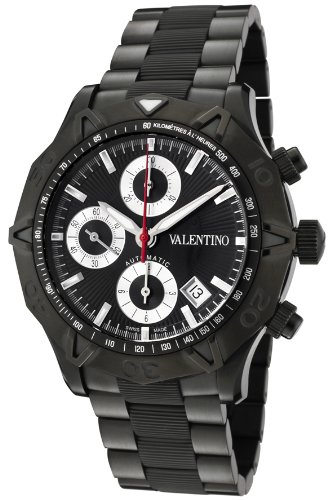 Valentino Homme Automatic Chronograph Black Ion Plated Stainless Steel Mens Watch V40LCA6413-S110