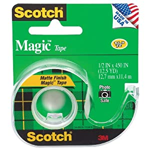 Scotch Magic Tape, 1/2 x 450 Inches (104)