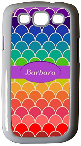Rikki Knighttm Barbara Name On Rainbow Scallop Design - White Hard Rubber Tpu Case Cover For Samsung® Galaxy I9300 Galaxy S3 front-608440