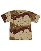 TEE SHIRT CAMO CAMOUFLAGE DESERT 6 COULEURS COL ROND ET MANCHES COURTES MILTEC 11012061-XXL AIRSOFT