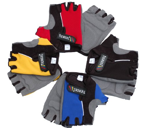 Women's PRO Cycling Bike Fingerless Gloves with Gel pad
