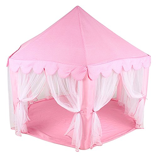 VISCO Princess Castle Play Tent Kids Playing Tents Lovely Fairy Tent - Pink
