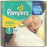 Pannolini Pampers nuovo bambino, Gr. 1 Newborn 2-5kg porta Confezione, 4-pack (4 x 23 pezzi)