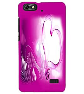 PrintDhaba Heart D-2161 Back Case Cover for HUAWEI HONOR 4C (Multi-Coloured)