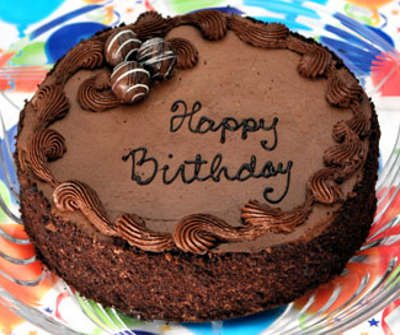 Chocolate Truffle Birthday Cake Add Party Pack