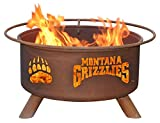 University of Montana Portable Steel Fire Pit Grill