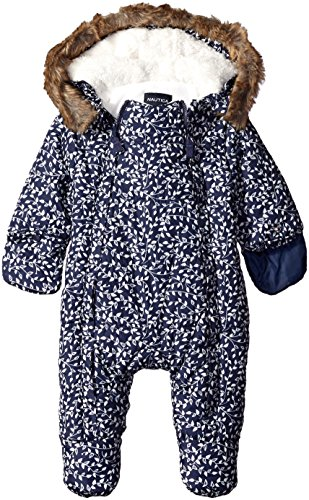 Nautica Baby Printed Snowsuit, Navy, 3-6 Months