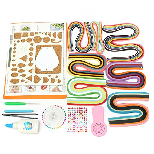 KING DO WAY Set Strumento Quilling Kit Attrezzo per Quilling Penna Set per Filigrana di Carta Multi Colore 1X Set