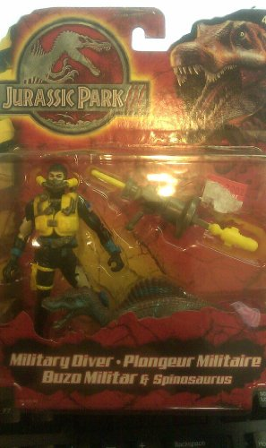 Picture of Hasbro Jurassic Park III Military Diver & Spinosaurus Figure (B0049W3HEG) (Military Action Figures)