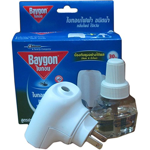 """Thaichoice"" Baygon Liquid Electric Mosquito Repeller 30 Days 0.77 Oz With Free 1 Refill"