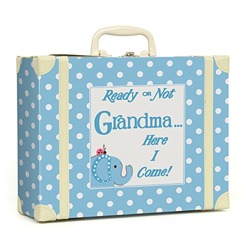 Child to Cherish Polka Dot Going to Grandma's Keepsake, Blue