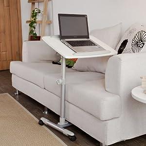 sobuy mesa auxiliar con ruedas mesas de centro mesas para portatiles mesitas de noche altura. Black Bedroom Furniture Sets. Home Design Ideas