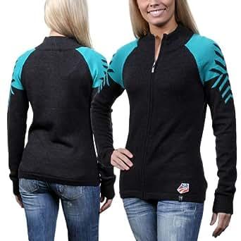 Neve U.S. Ski Team Ladies Leah Full Zip Sweater - Jade
