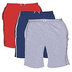 TeesTadka Men's Cotton Shorts Pack of 3