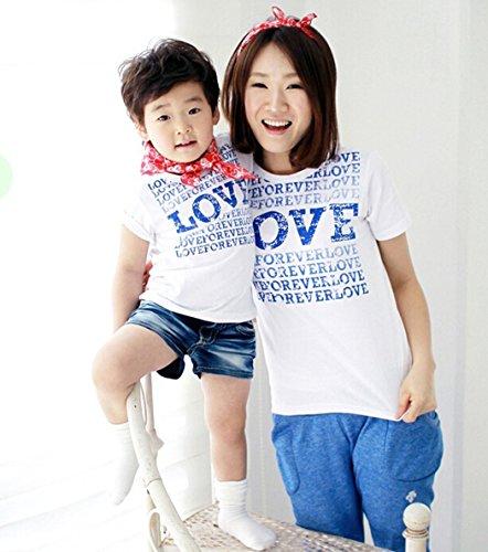 [ニューライフスカイ]子供服 親子ペア 短袖 子供の服 ホワイト 文字 lbertz0031 (8)