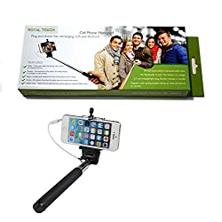 Royal Touch Pocket Size Selfie Stick-mini with Aux cable,No bluetooth, No charging required (assorted Colors) Pocket Selfie Stick Best Quality & Light Weight, Long Length, Extendable & Foldable Monopod, best price, Golden Selfie Stick for iPhones (iOS 5.0+), Samsung Galaxy, Note, HTC, Android Phones, Gionee, Intex, karbonn, Lenovo, Moto, Micromax, Nokia, Nexus, Oppo, Coolpad, Sony, Redmi, Xiaomi,V