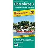 Radwanderkarte Elberadweg 3 Wittenberge-Cuxhaven/Brunsbüttel: Leporello mit Ausflugszielen, Einkehr- und Freizeittipps, Entfernungen, Etappen, ... reißfest, abwischbar, GPS-genau. 1:50000