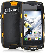 Docooler® MANN ZUG3 A18 4.0'' Inch IPS IP68 Waterproof Smart Cell Phone Dustproof Shockproof Rugged Outdoor Android 4.3 Qualcomm MSM8212 1GB RAM 4GB ROM Dual Cameras with WIFi FM Functions - Yellow