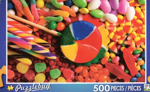 Candy Fun - Puzzlebug - 500 Pc Jigsaw Puzzle - NEW - 1