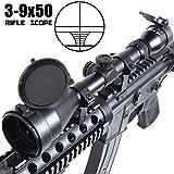 ANS Optical ライフルスコープ 3-9x 50mm 可変ズーム 防水加工 ハイエンドモデル バトラーキャップ付