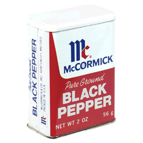 McCormick Black Pepper, 2-Ounce Cans (Pack of
