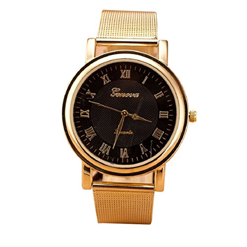Changeshopping(Tm) New Gold Classic Womens Quartz Stainless Steel Wrist Watch