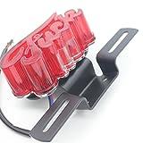DongZhen 文字型 汎用 ハーレー 原付 バイク テール ランプ LED オートバイ ブレーキ ナンバー 灯 ステー ライト カバー 1個
